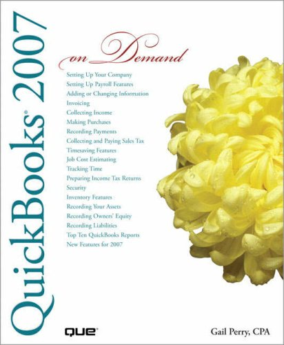 QuickBooks 2007 on Demand 9780789736321