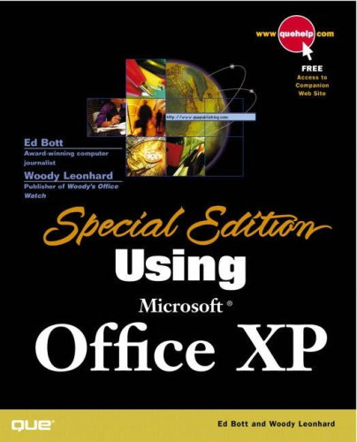 Special Edition Using Microsoft Office XP [With CD] 9780789725134