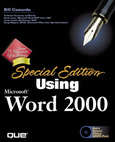 Special Edition Using Microsoft Word 2000 [With *] 9780789718525