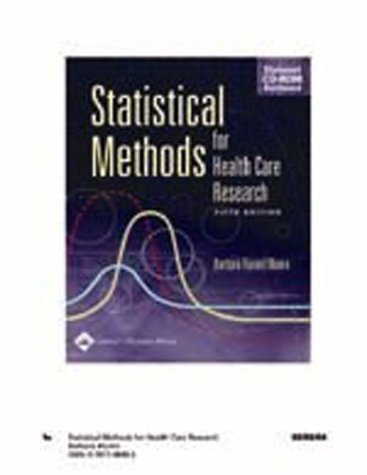 Statistical Methods for Health Care Research [With CDROM] 9780781748407