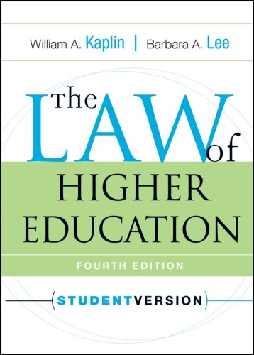 The Law of Higher Education 9780787970956