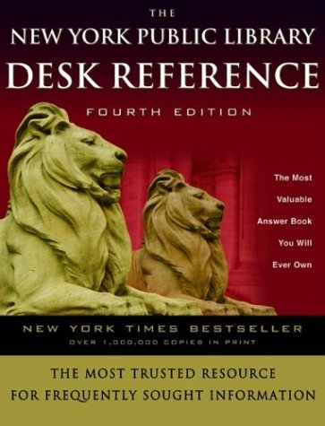 The New York Public Library Desk Reference 9780786868469