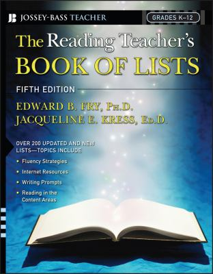 The Reading Teacher's Book of Lists 9780787982577