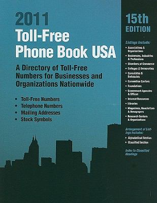 Toll-Free Phone Book USA: A Directory of Toll-Free Numbers for Businesses and Organizations Nationwide 9780780811768