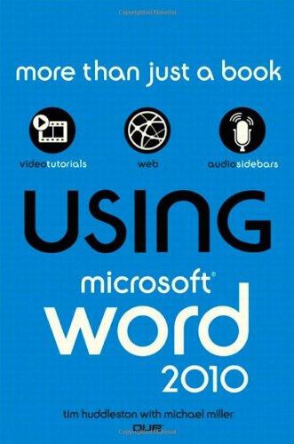 Using Microsoft Word 2010 9780789742988