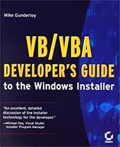 VB/VBA Developer's Guide to the Windows Installer