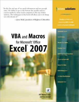 VBA and Macros for Microsoft Office Excel 2007 9780789736826