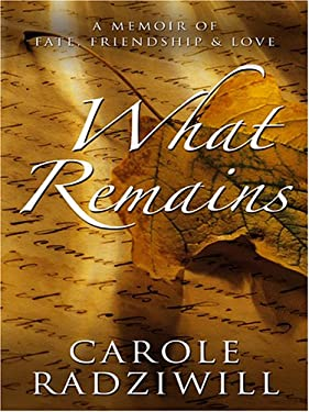 What Remains: A Memoir of Fate, Friendship, and Love 9780786283835