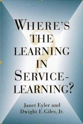 Where's the Learning in Service-Learning 3118472