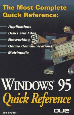Windows 95 Quick Reference 9780789711052