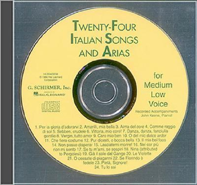 24 Italian Songs and Arias of the 17th and 18th Centuries 9780793581030