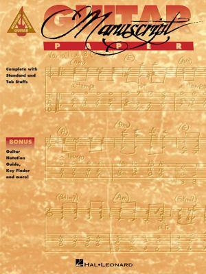 Recorded Versions Guitar Tablature Manuscript Paper 9780793530489