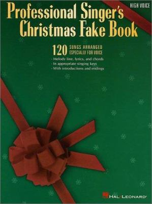 Professional Singer's Christmas Fake Book - High Voice 9780793560141