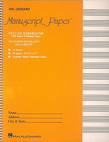 Deluxe Wirebound Super Premium Manuscript Paper (Gold Cover) 9780793547630