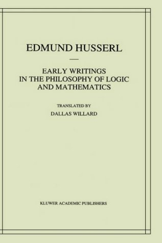 Early Writings in the Philosophy of Logic and Mathematics 9780792322627