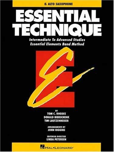 Essential Technique - Eb Alto Saxophone Intermediate to Advanced Studies (Book 3 Level) 9780793518067
