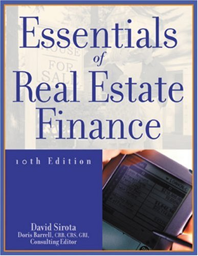 Essentials of Real Estate Finance 9780793160846