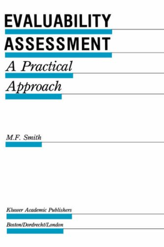 Evaluability Assessment: A Practical Approach 9780792390367
