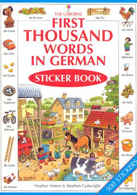 First Thousand Words In German Sticker Book 9780794501938