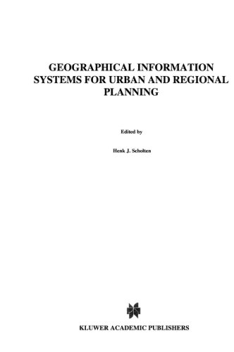 Geographical Information Systems for Urban and Regional Planning 9780792307938