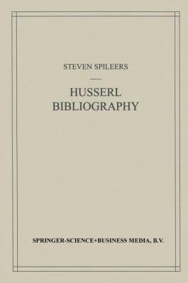Husserl Bibliography 9780792351818