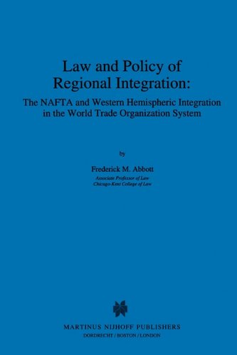 Law and Policy of Regional Pa 9780792332961