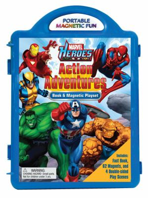 Marvel Heroes Action Adventures: Book & Magnet Playset [With Double-Sided Play Scenes and 62 Magnets] 9780794418977