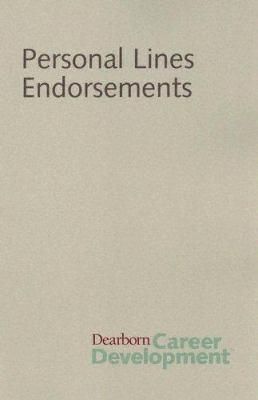 Personal Lines Endorsement 9780793165728
