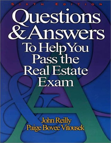 Questions & Answers to Help You Pass the Real Estate Exam 9780793135820