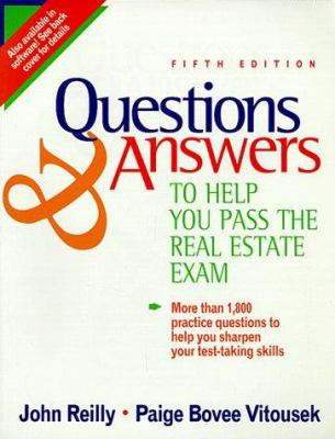 Questions and Answers to Help You Pass the Real Estate Exam 9780793115051