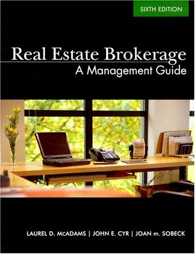 Real Estate Brokerage: A Management Guide 9780793167852