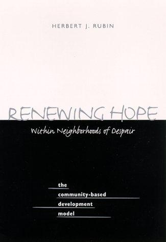 Renewing Hope Within Neighborhoods of Despair 9780791445549