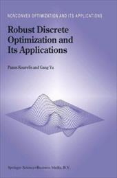 Robust Discrete Optimization and Its Applications 3169098