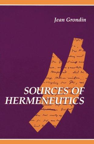 Sources of Hermeneutics 9780791424667