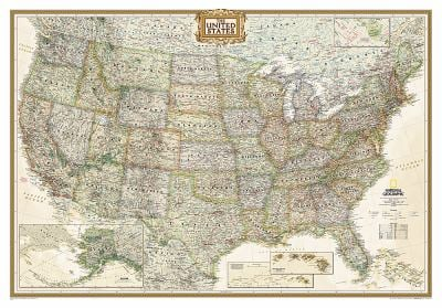 United States Executive, Laminated: Wall Map 9780792233787