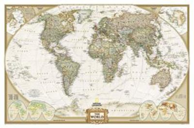 World Executive, Laminated: Wall Map