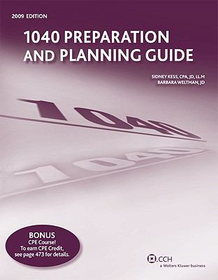 1040 Preparation and Planning Guide 9780808019558