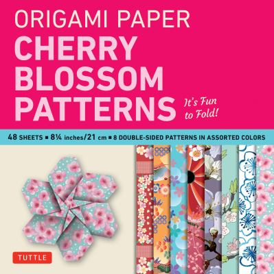 """Origami Paper- Cherry Blossom Prints Large- 8 1/4"""" 48 sheets: Tuttle Origami Paper: High-Quality Origami Sheets Printed with 8 Different Patterns: Ins"""