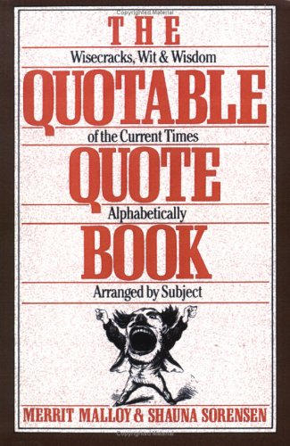 The Quotable Quote Book 9780806512204