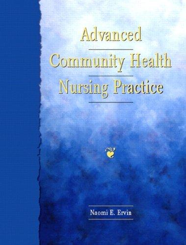 Advanced Community Health Nursing Practice 9780805373646