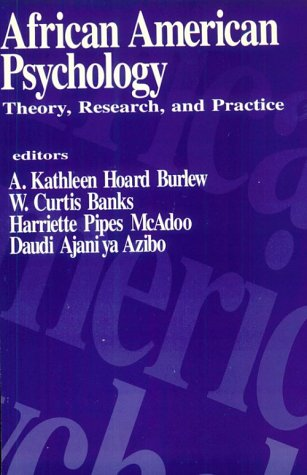 African American Psychology: Theory, Research, and Practice 9780803947665
