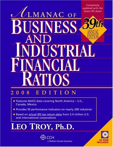Almanac of Business and Industrial Financial Ratios [With CDROM] 9780808017592
