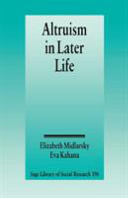 Altruism in Later Life 9780803927698