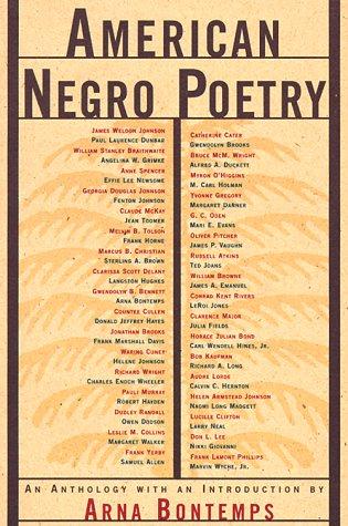 American Negro Poetry 9780809015641