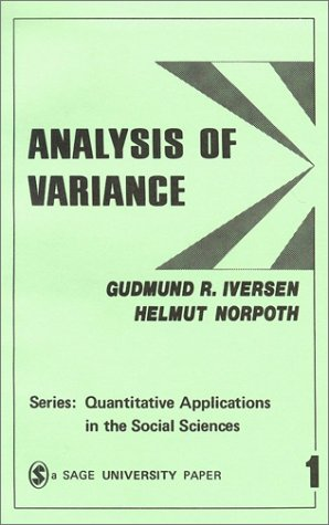 Analysis of Variance 9780803930018