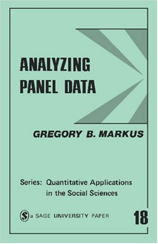Analyzing Panel Data 9780803913721