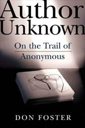 Author Unknown: On the Trail of Anonymous 3288480