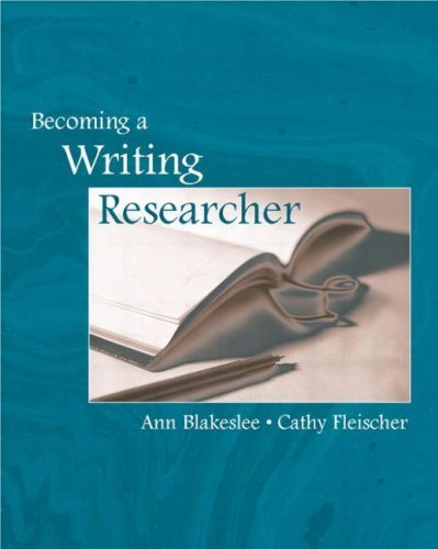 Becoming a Writing Researcher 9780805839975