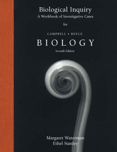 Biological Inquiry: A Workbook of Investigative Case Studies 9780805371765