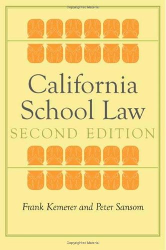 California School Law 9780804760386